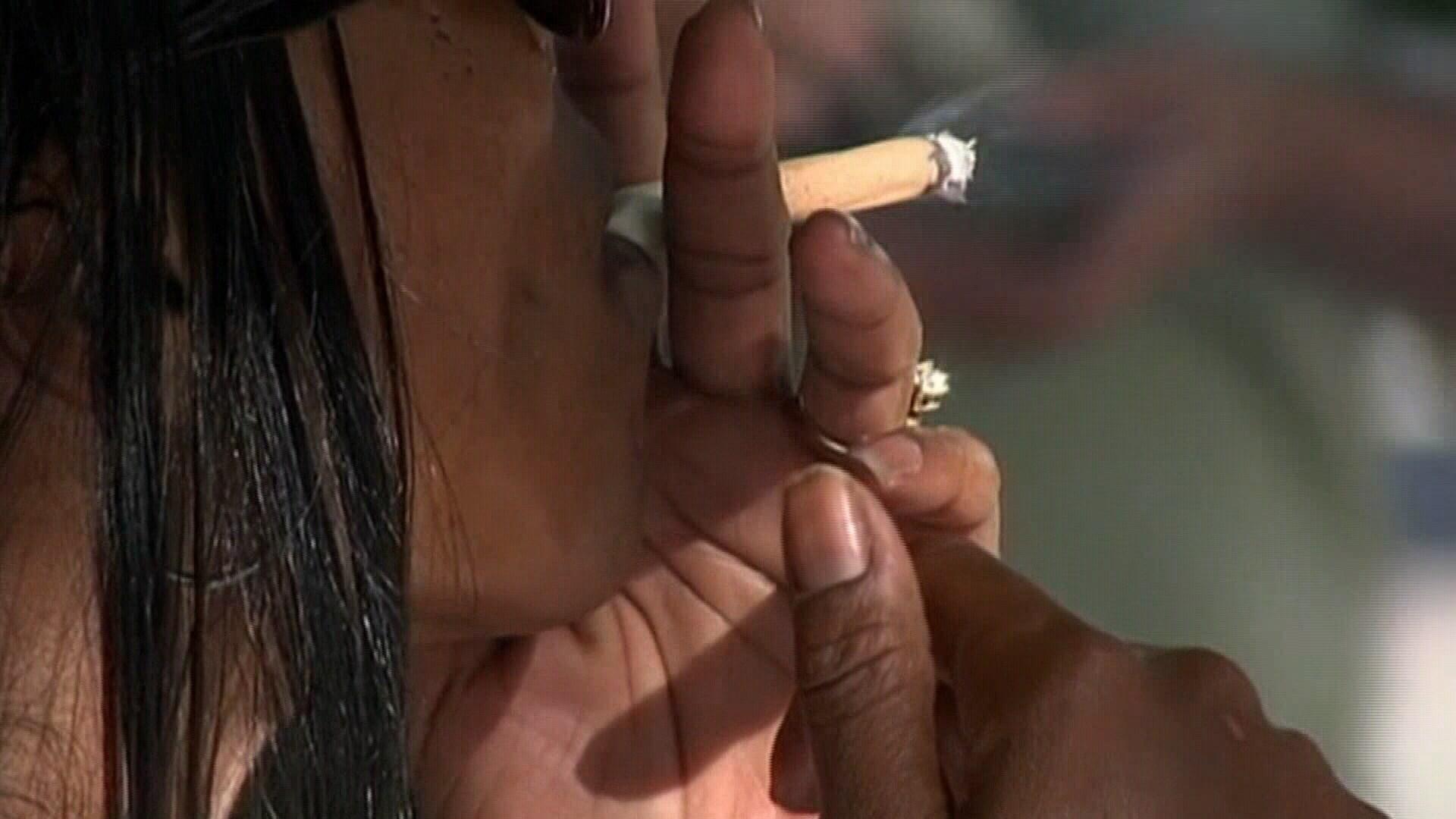 File Photo: Woman smoking.