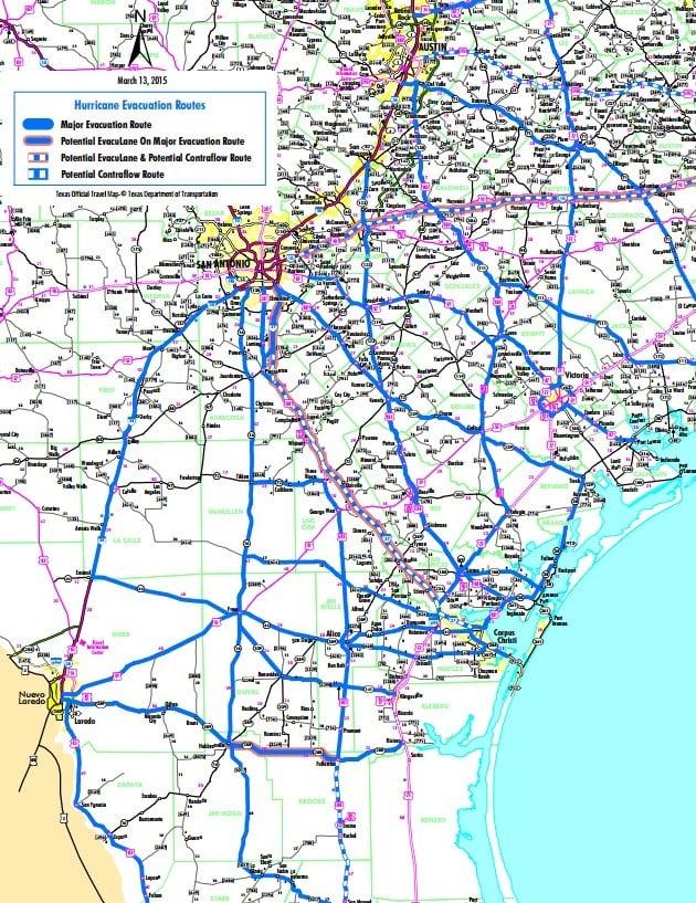 TxDOT Hurricane Evacuation Routes