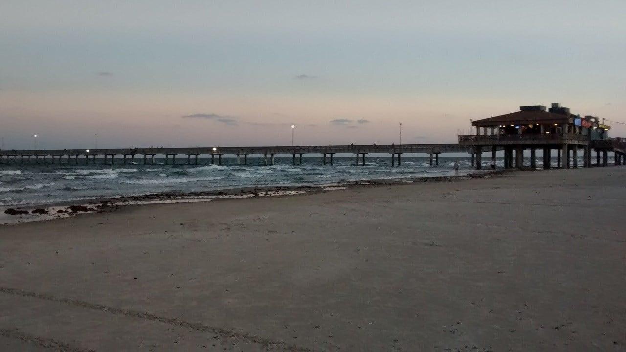 Bob Hall Pier in Nueces County, Texas along the Gulf of Mexico. (KRIS)