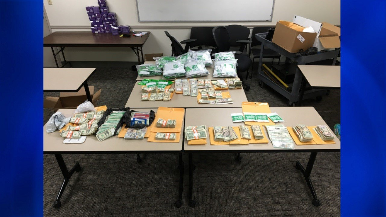 During the investigation, narcotics officers seized more than eight pounds of synthetic cannabis.