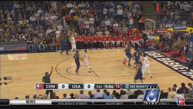 USA Men's Basketball Trumps China, 106-57