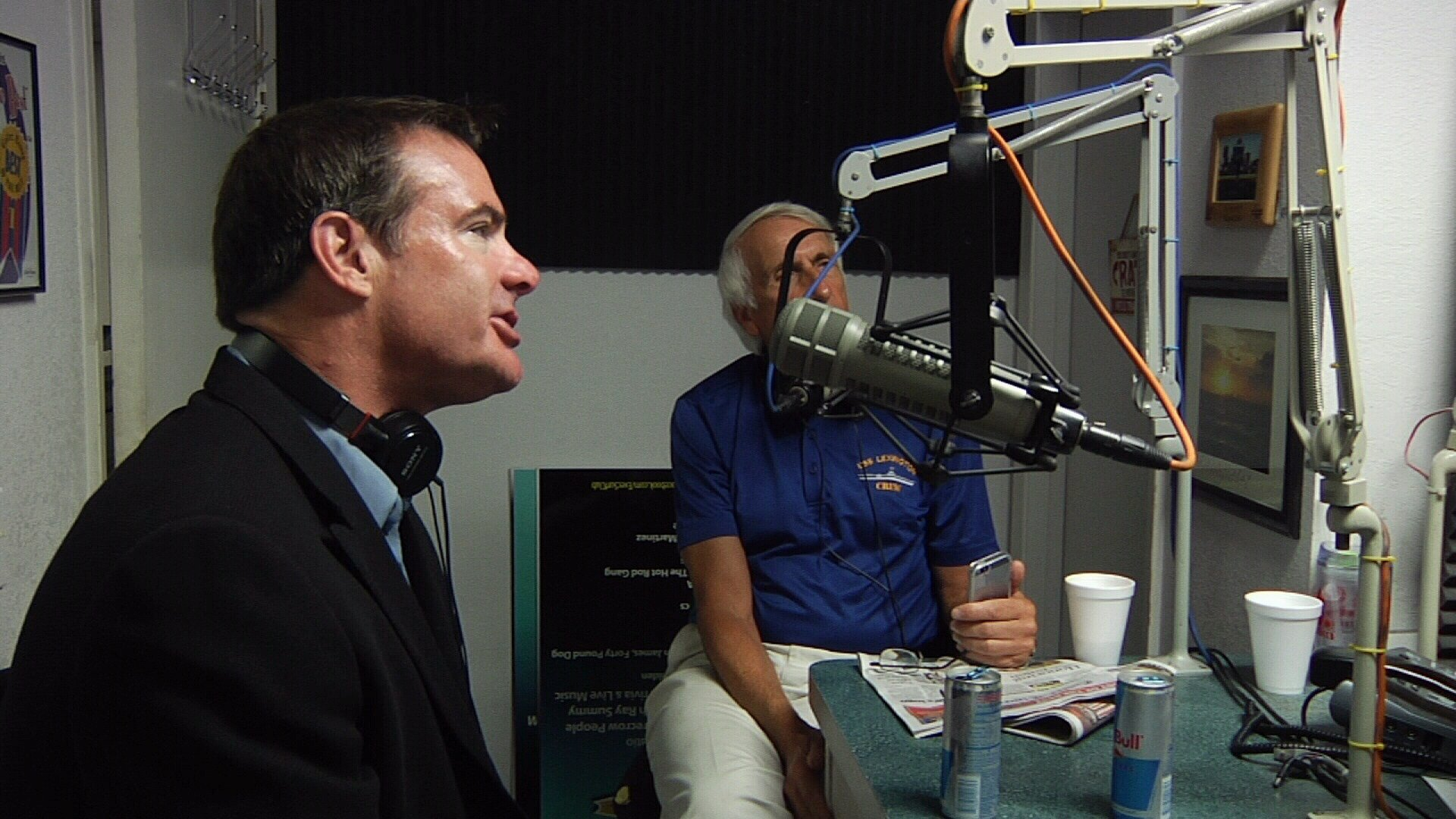 """Volunteers like Rocco Montesano and Dr. Keith  Rose are regulars on """"Lago in the Morning""""."""