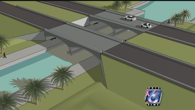 The future of the city's Park Road 22 bridge is in limbo with the Schlitterbahn waterpark foreclosure. (KRIS 6 News)