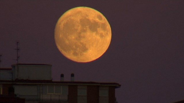 People in Europe got a first glance Sunday at the Supermoon. It's the largest, brightest full moon in nearly seven decades. (Courtesy: NBC)