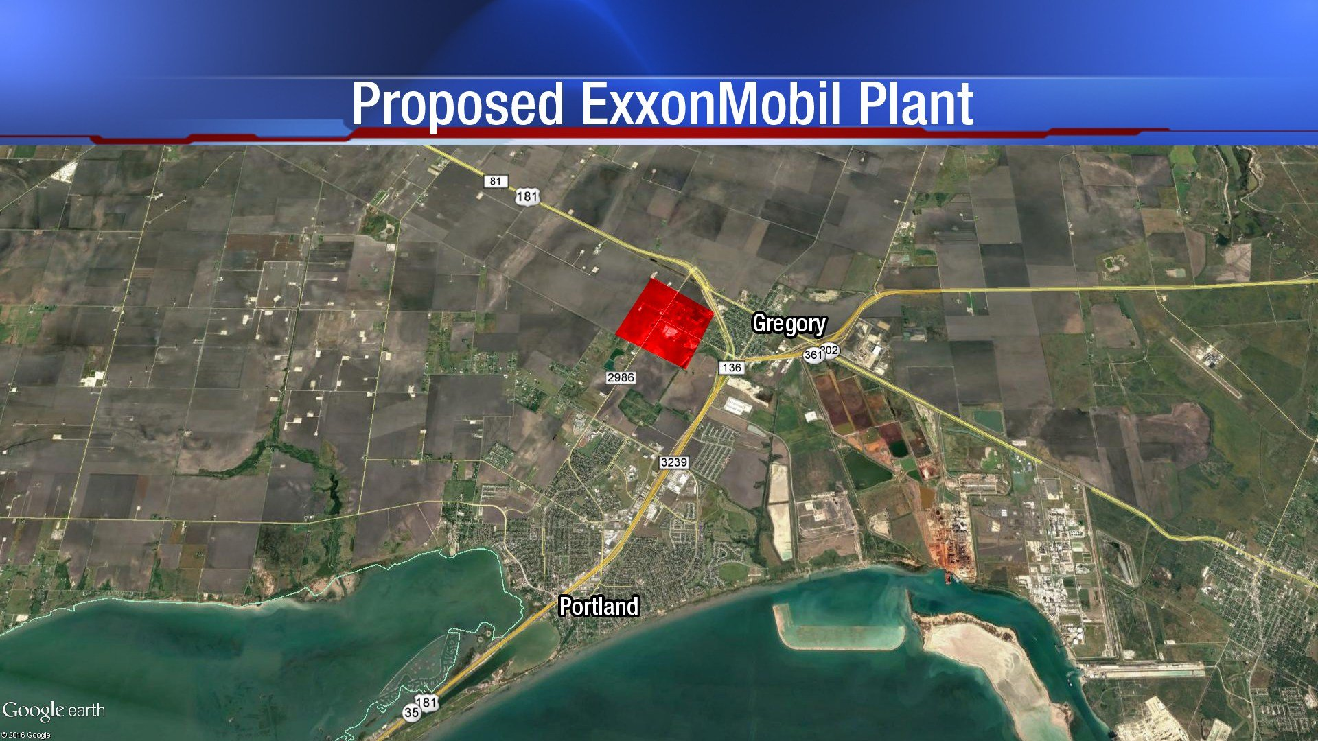 The proposed ExxonMobil Plant.