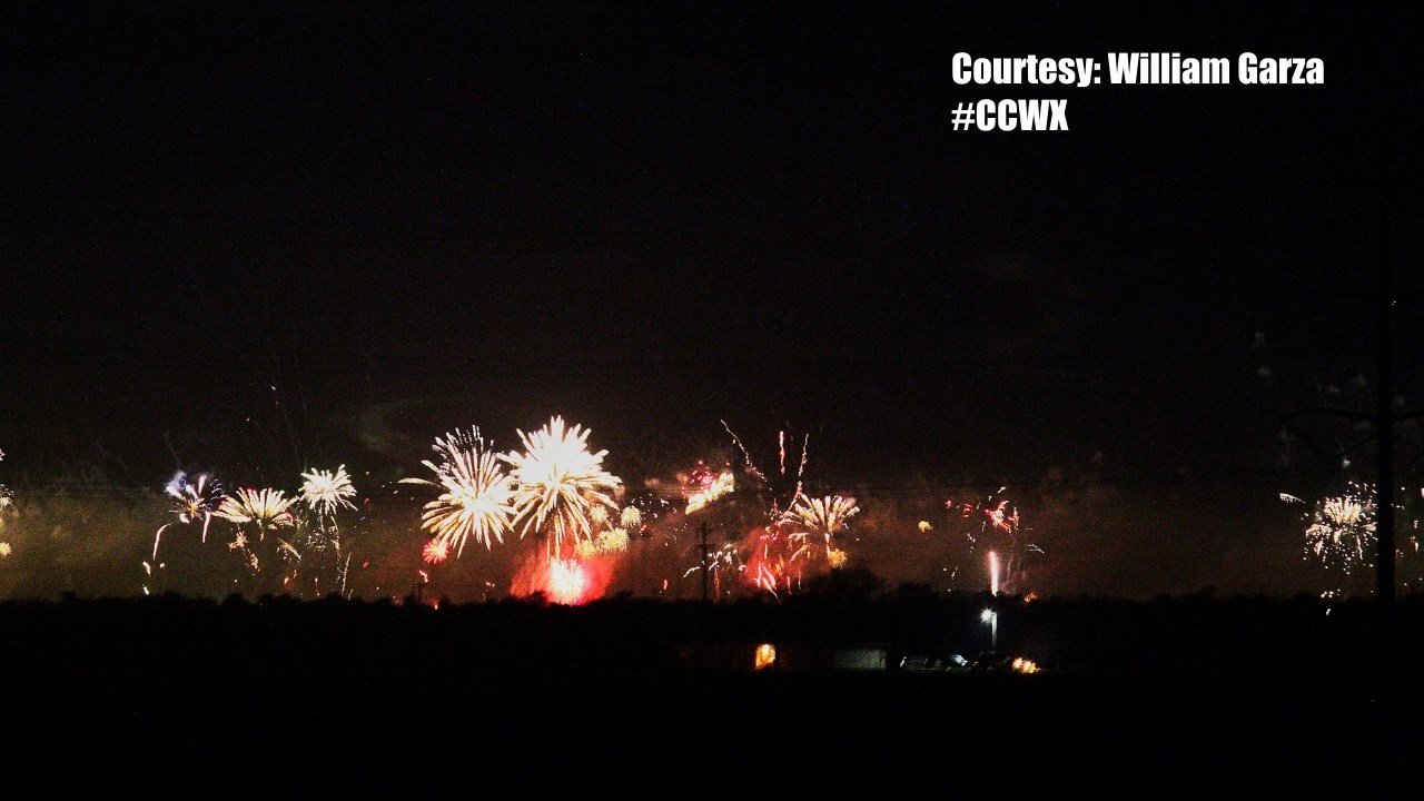 Photo Courtesy: William Garza. A photo from Robstown at midnight on New Years Day.