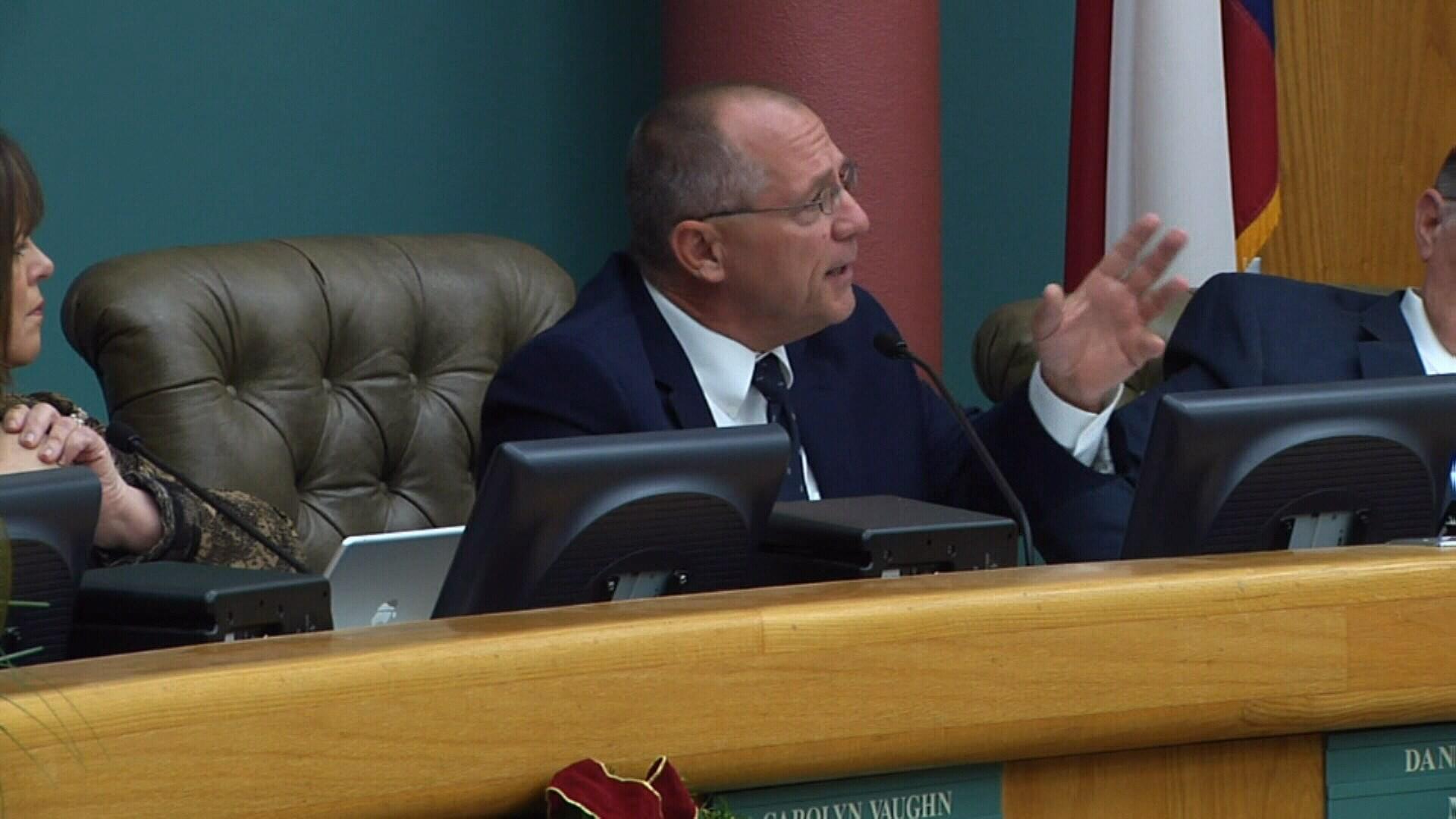 Mayor Dan McQueen.