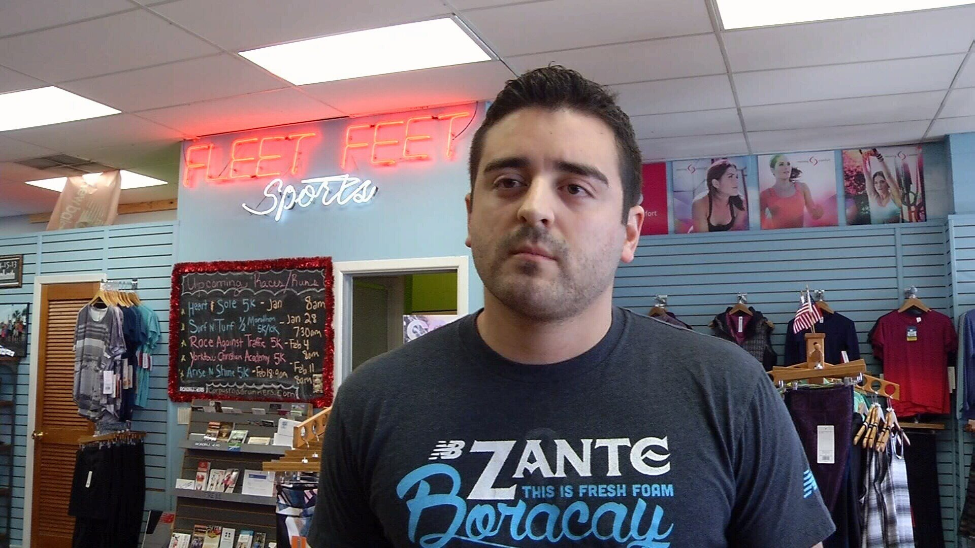 Fleet Feet store manager Adrian Maquez described Fuqua as a fun loving guy.