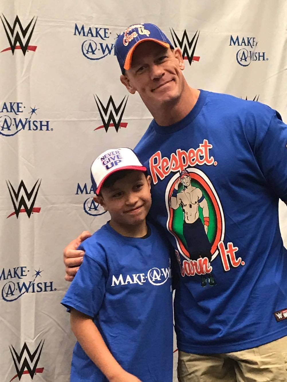 Make-A-Wish Foundation grants 10-year-old boy's wish, to meet John Cena during wrestling match in Corpus Christi.