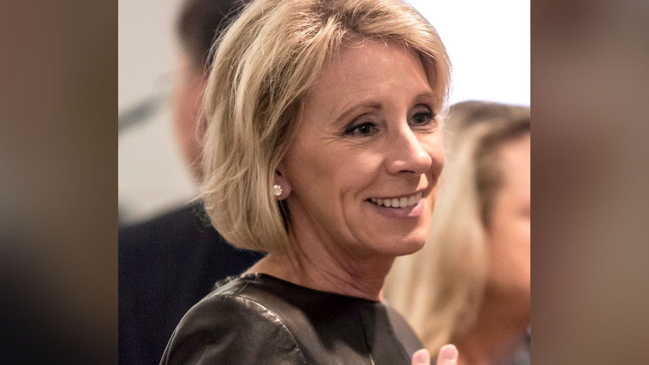 The Senate voted 51-50 including a tie breaker from Vice President Pence to approve the nomination of Betsy DeVos as secretary of education. Photo: Betsy DeVos