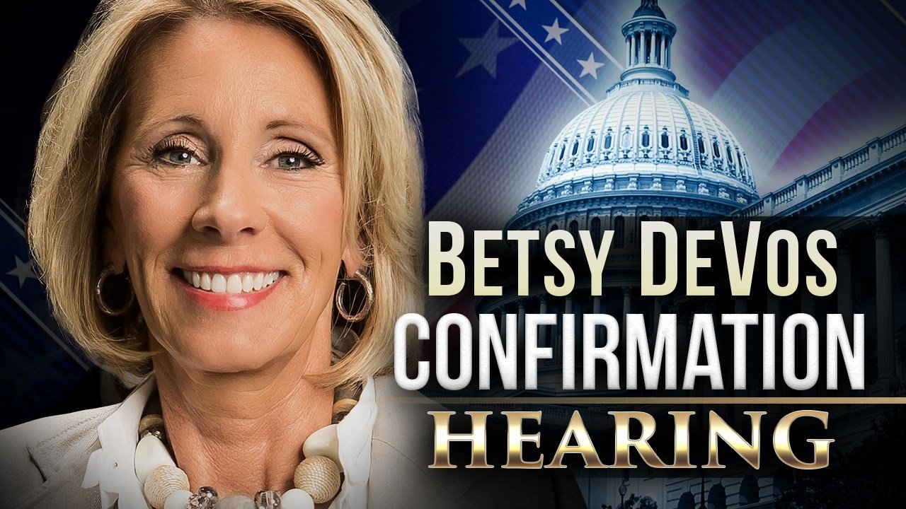 A 50-50 vote tie was broken by Vice President Mike Pence to approve DeVos.