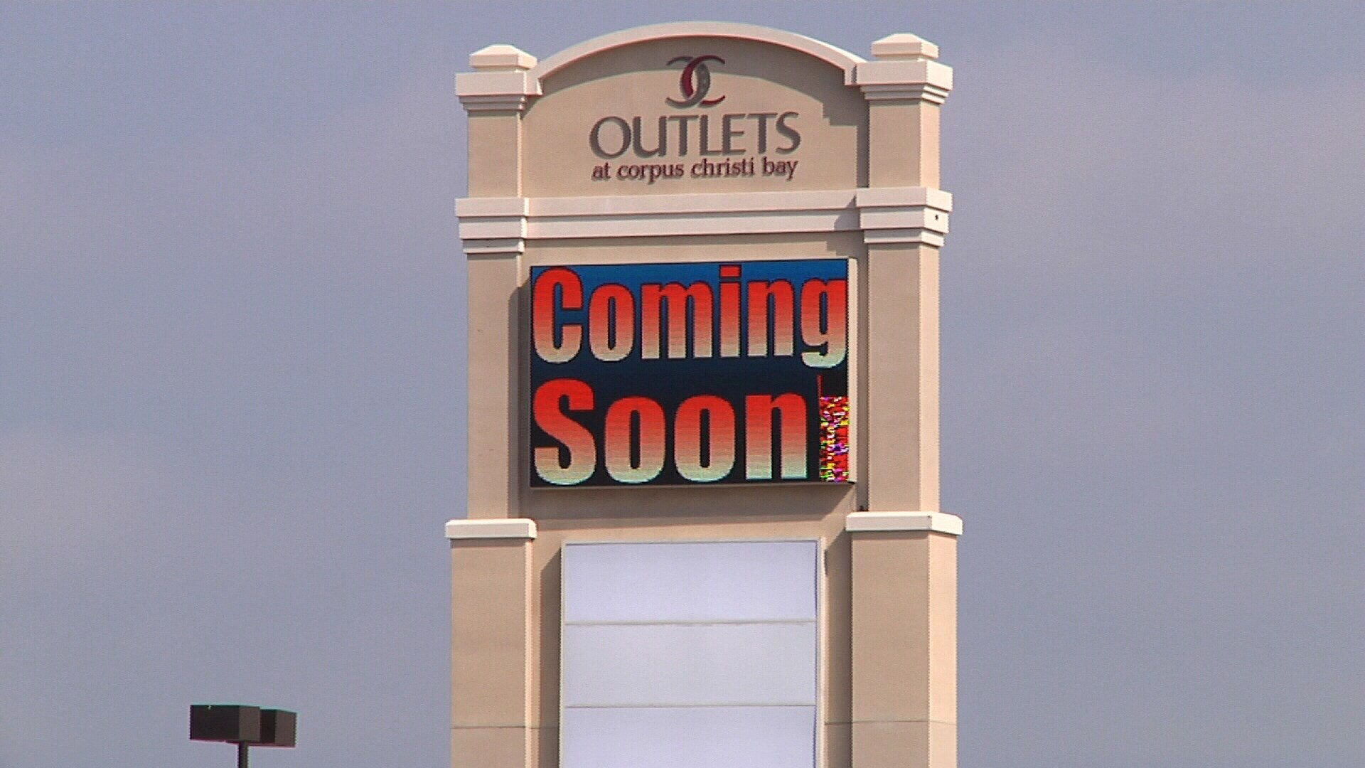 Grand opening scheduled for March 2, 2017 for the Outlets at Corpus Christi Bay.