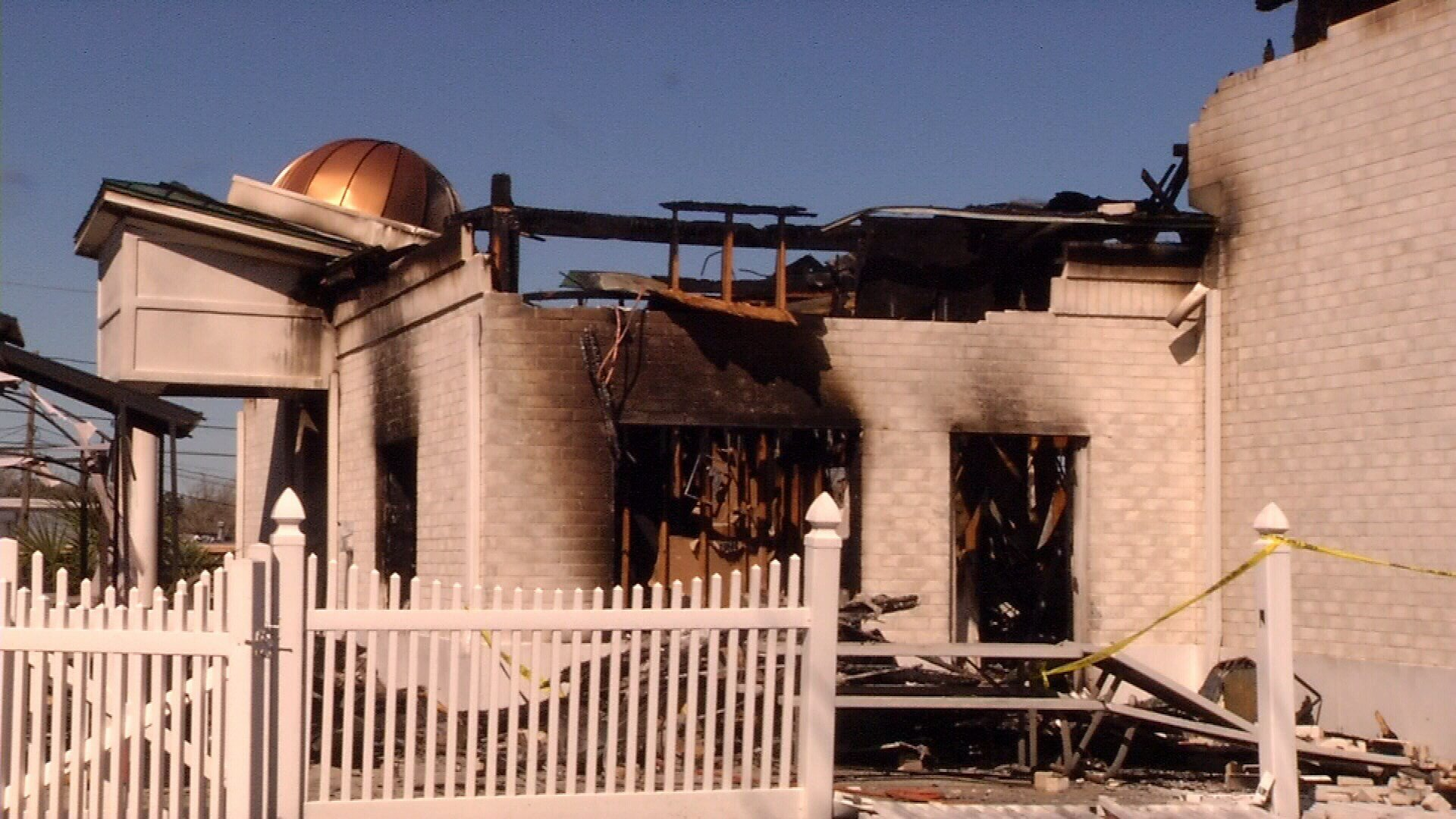 Authorities say the fire that destroyed Victoria's mosque was an arson. (KRIS, File Photo)
