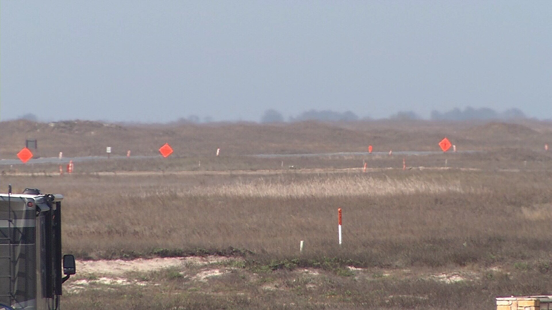 The bombs were found by work crews who are widening a road. (KRIS 6 NEWS)
