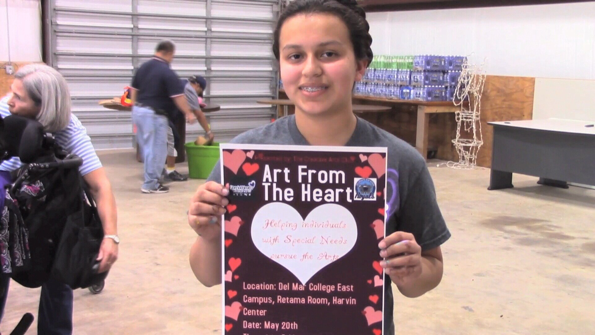 Volunteer Ezra Nicolina Garza organized a fundraiser coming up May 20th at Del Mar College