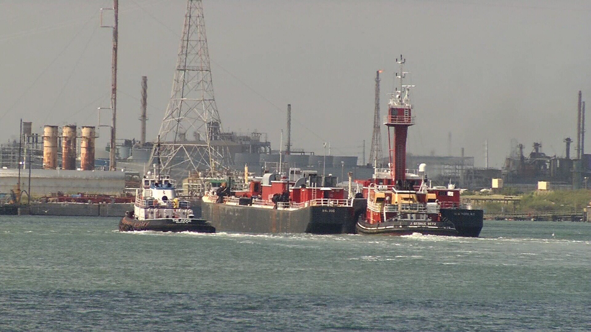 Port officials say it is important to widen and deepen the ship channel as Port traffic grows. (KRISTV)