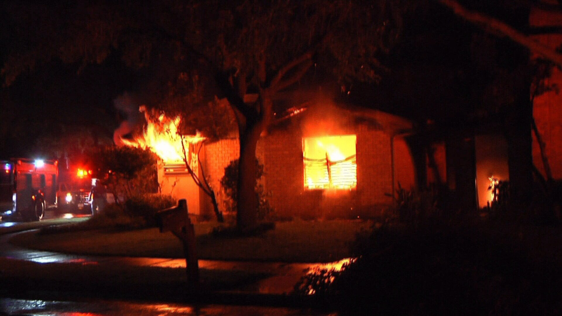 The Mushel home was on fire when KRIS 6 News crews arrived on scene.