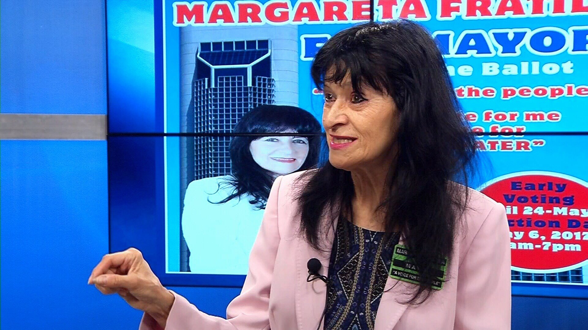 Mayoral candidate Margareta Fratila admits information on her flyer is false and blames the mistake on a printing error (KRIS 6 News).