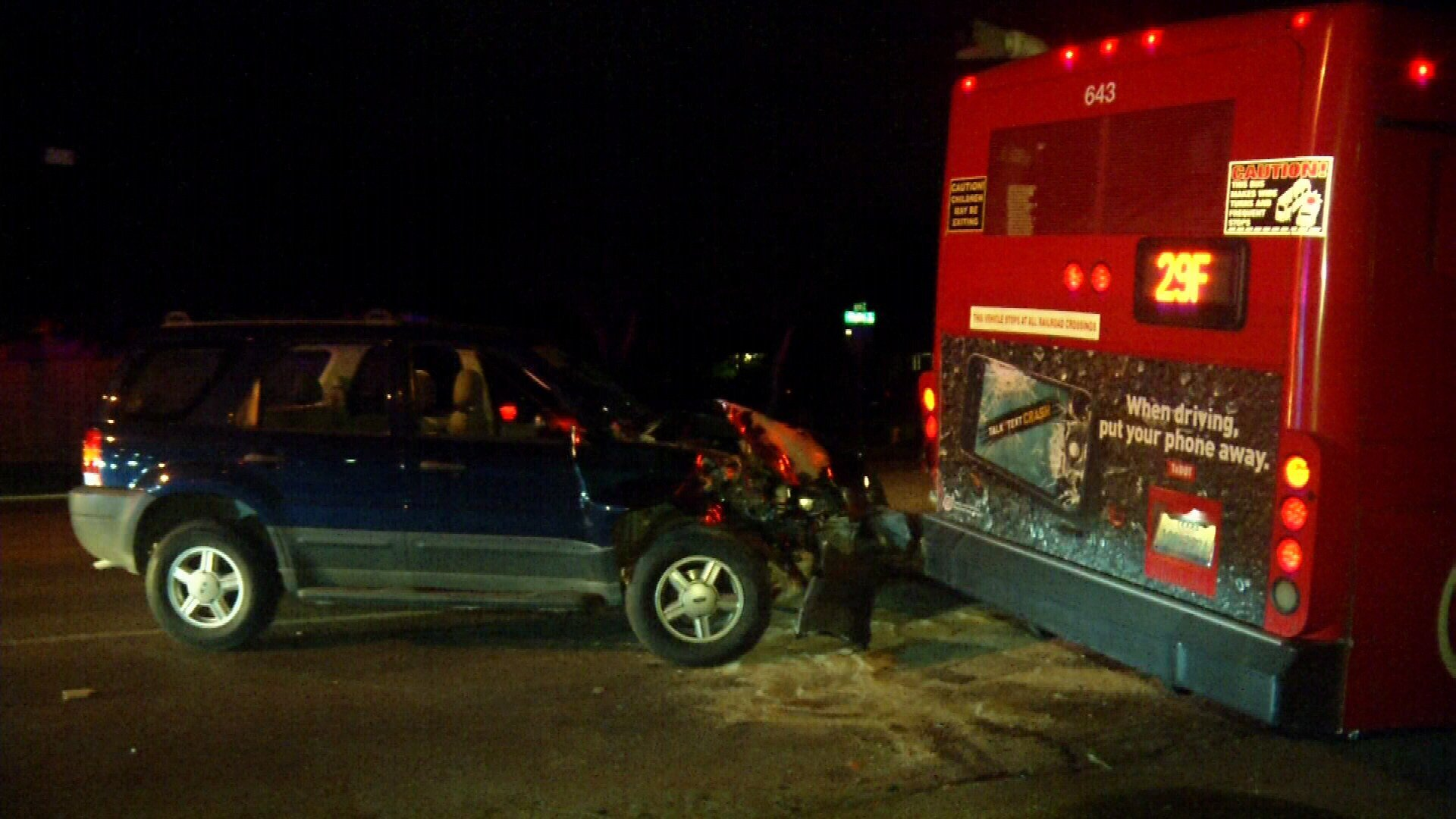 The accident occurred just before 10:00 p.m. Wednesday night.