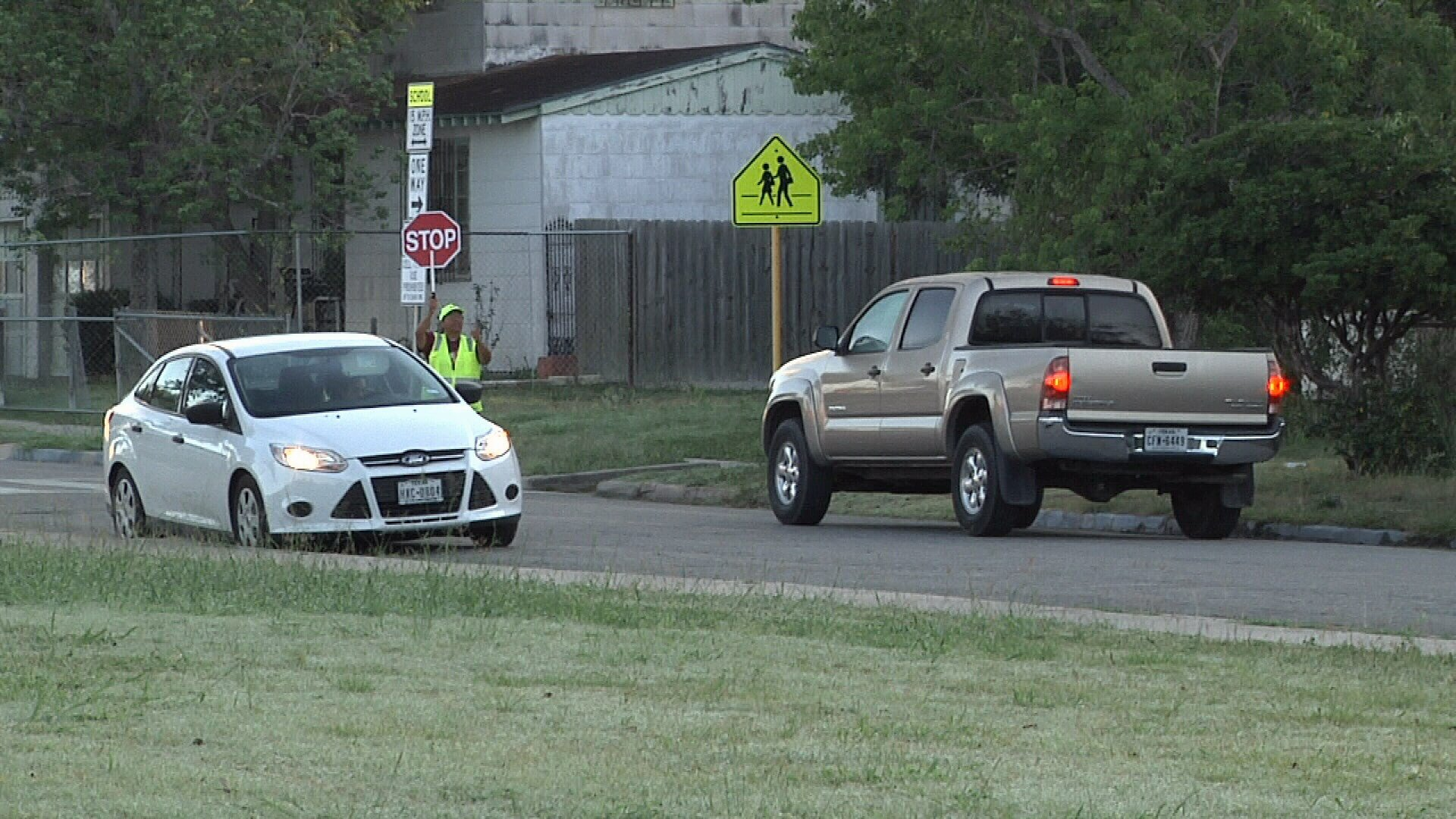 Drivers near Oak Park Elementary are speeding, passing stop signs, and going the wrong way on a one-way.