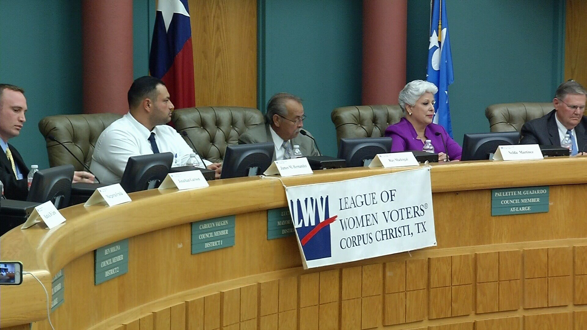 The eight candidates running for mayor of Corpus Christi appeared at a special forum hosted by the city's chapter of the League of Women Voters.