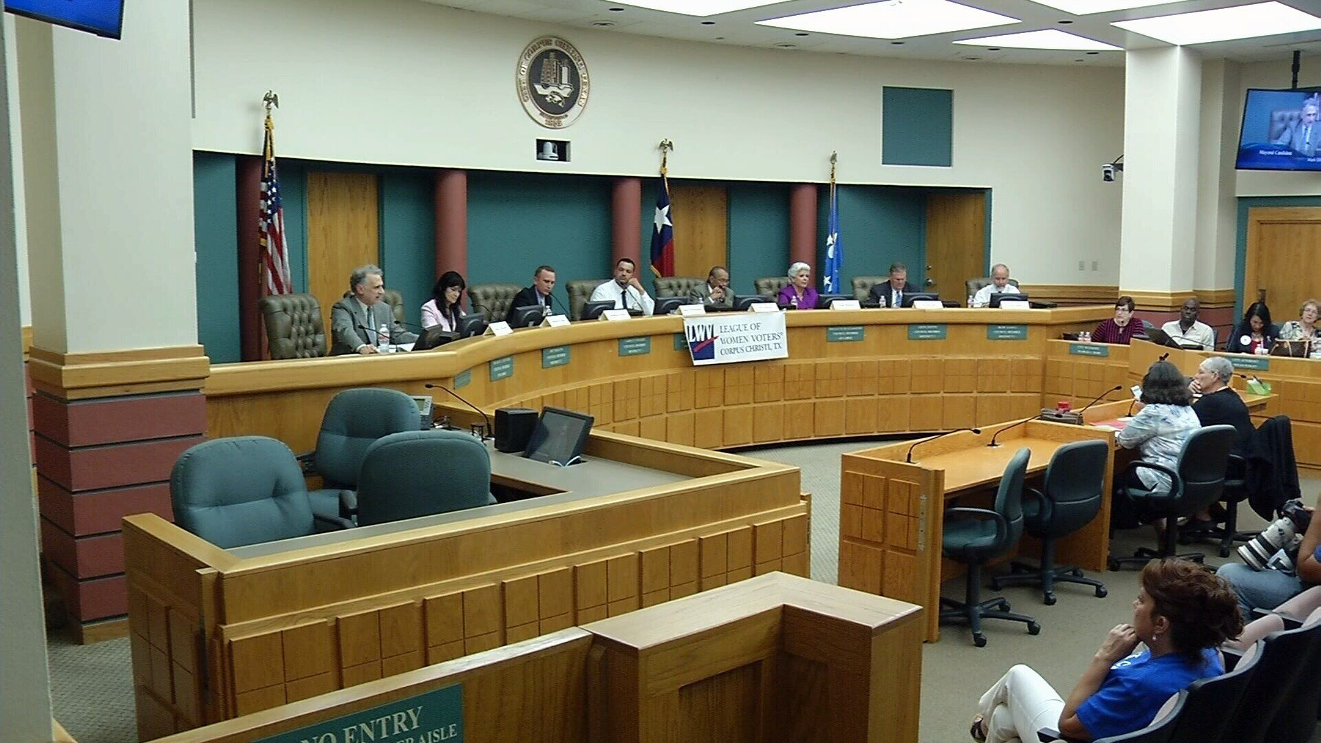 The forum was held at City Hall Thursday night, ahead of early voting for the special election which starts Monday.