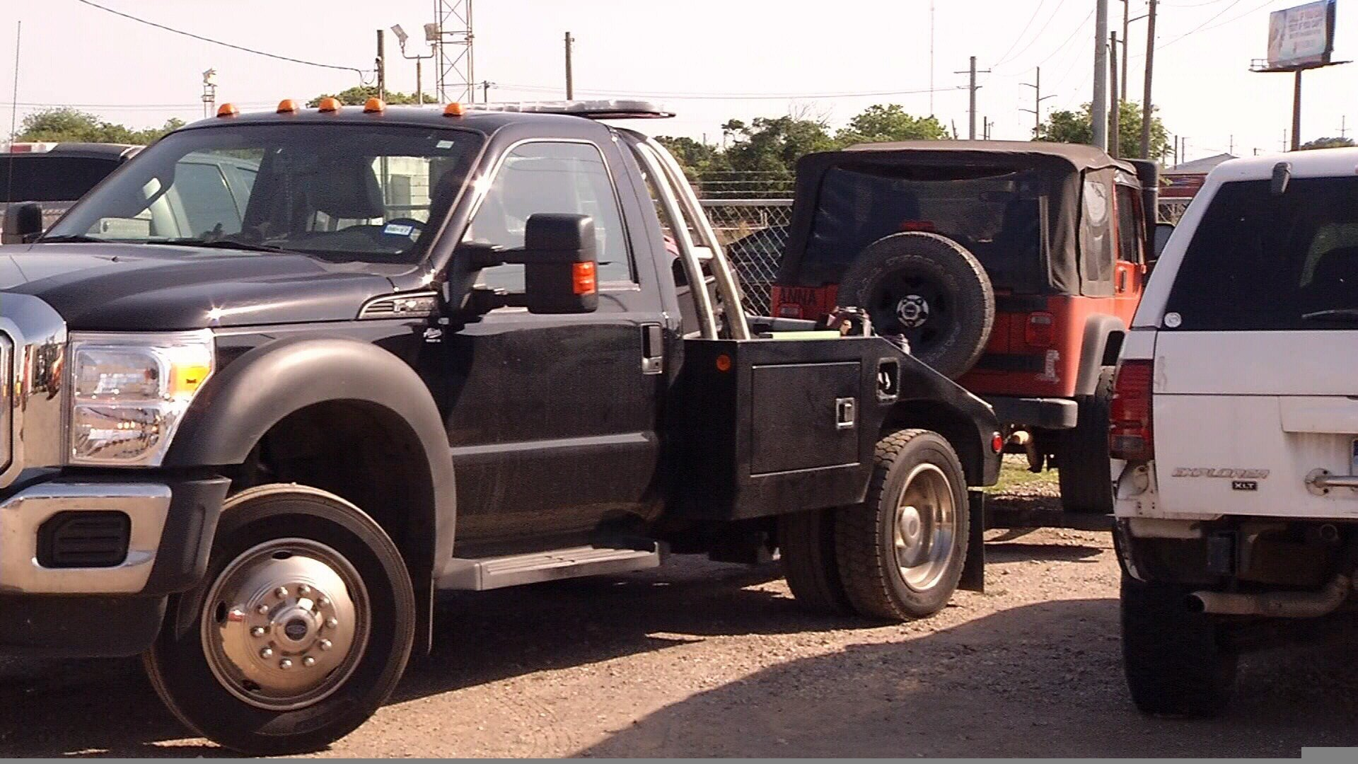 A look at a tow truck.