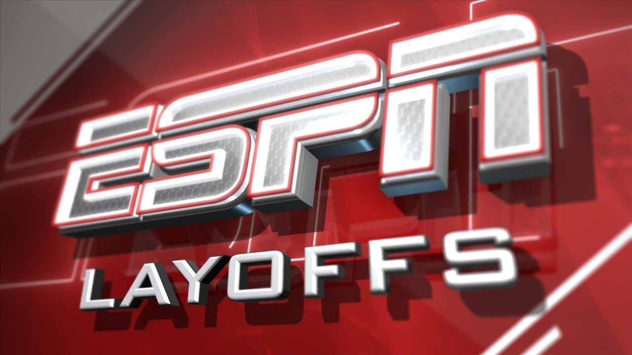 ESPN's lay offs trim their stable on-air talent and writing team by about 10 percent.