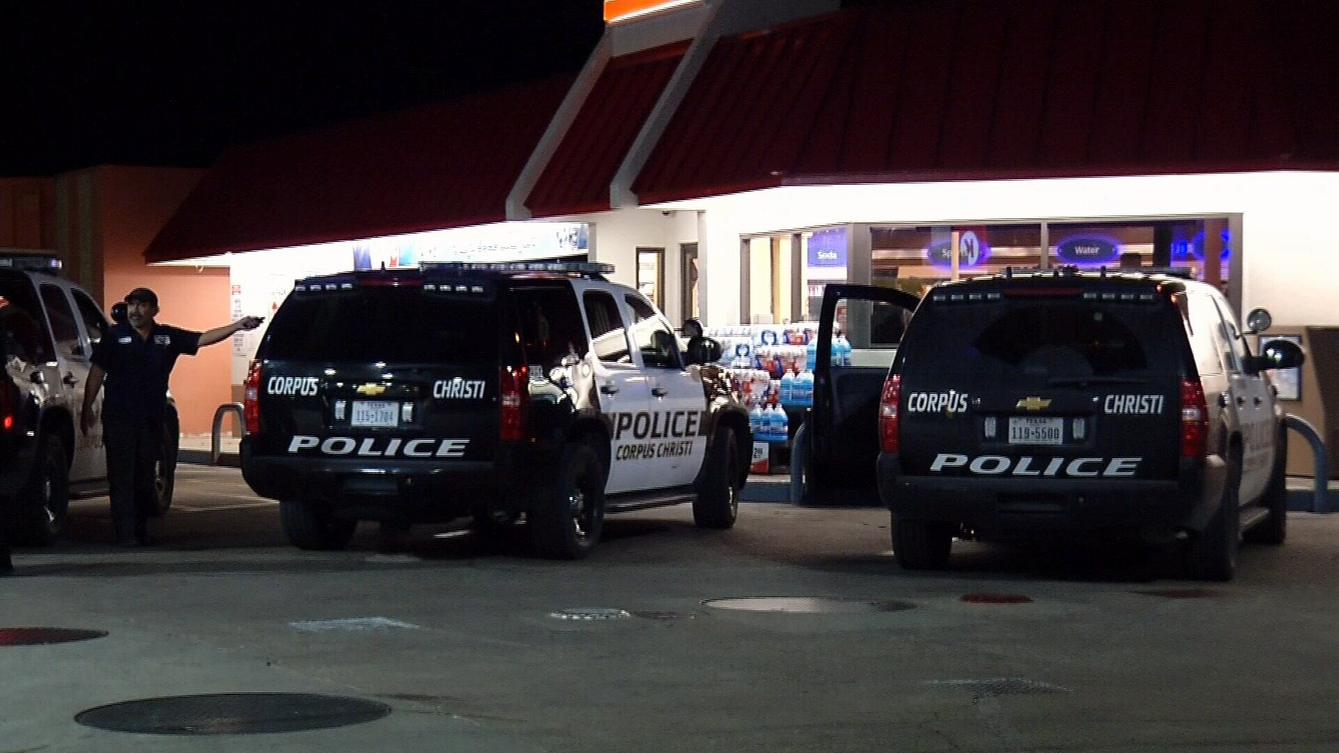 A man had his car stolen at gunpoint at a convenience store on Weber overnight.