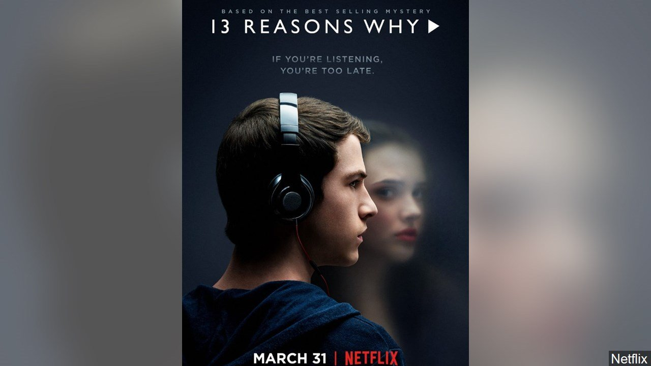 PHOTO: '13 Reasons Why' Netflix series poster staring Dylan Minnette and Katherine Langford, Photo Date: 2017