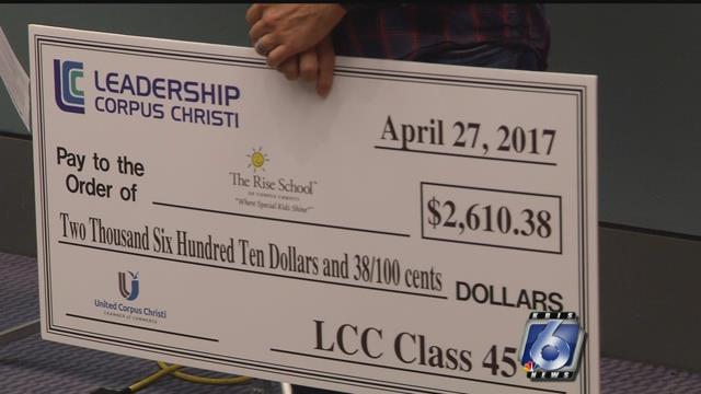 Leadership Corpus Christi donates money to the ARK and The Rise School.