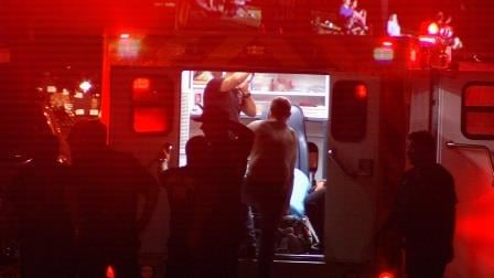 At least three people were taken to the hospital, after they were injured in fights that broke out during a concert.