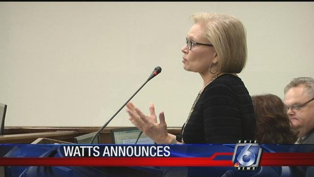 Judge Sandra Watts announced that she's running for re-election.