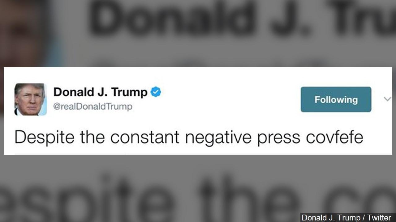 Donald Trump sends vague midnight tweet about 'negative press covfefe,' internet erupts