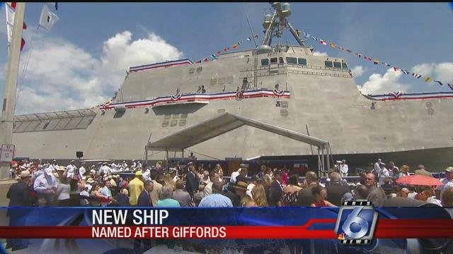 Navy commissions USS Gabrielle Giffords, heads to San Diego