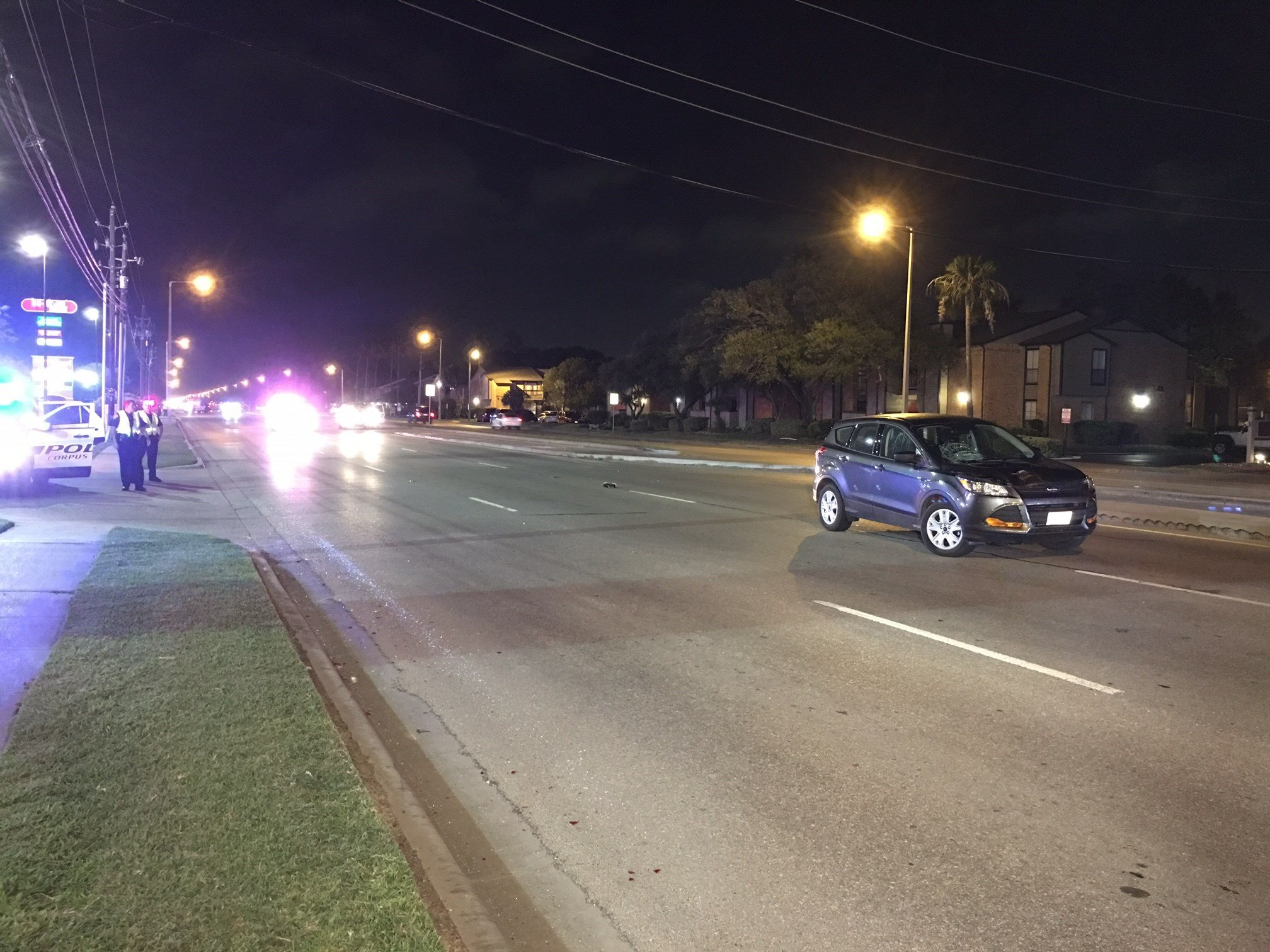 The accident reportedly occurred near the intersection of Staples and Saratoga.