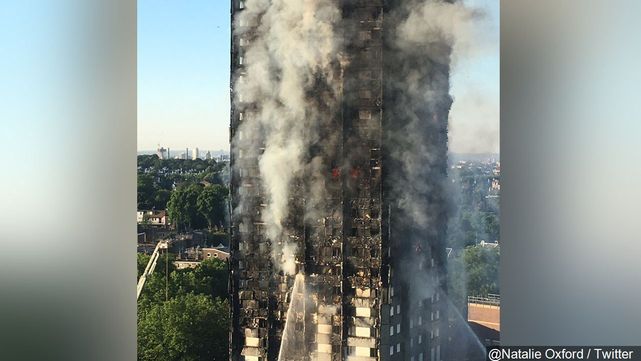 PHOTO: London Fire at Grenfell Tower, Photo Date: 6/13/2017