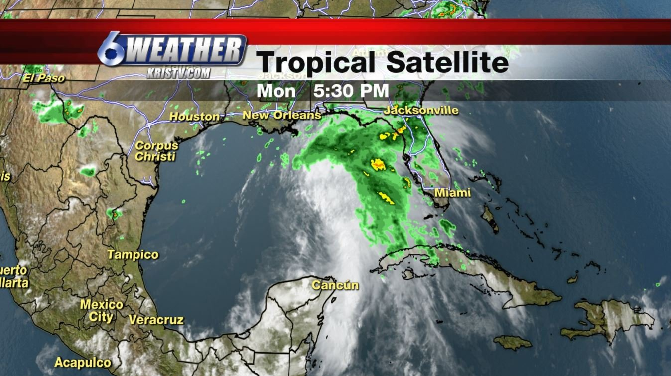 A picture of the tropical satellite as of Monday June 19th, 2017