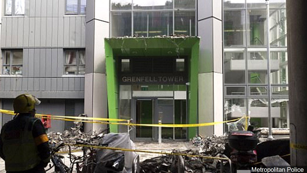 PHOTO: Grenfell Tower fire damage in London, Photo Date: June 2017