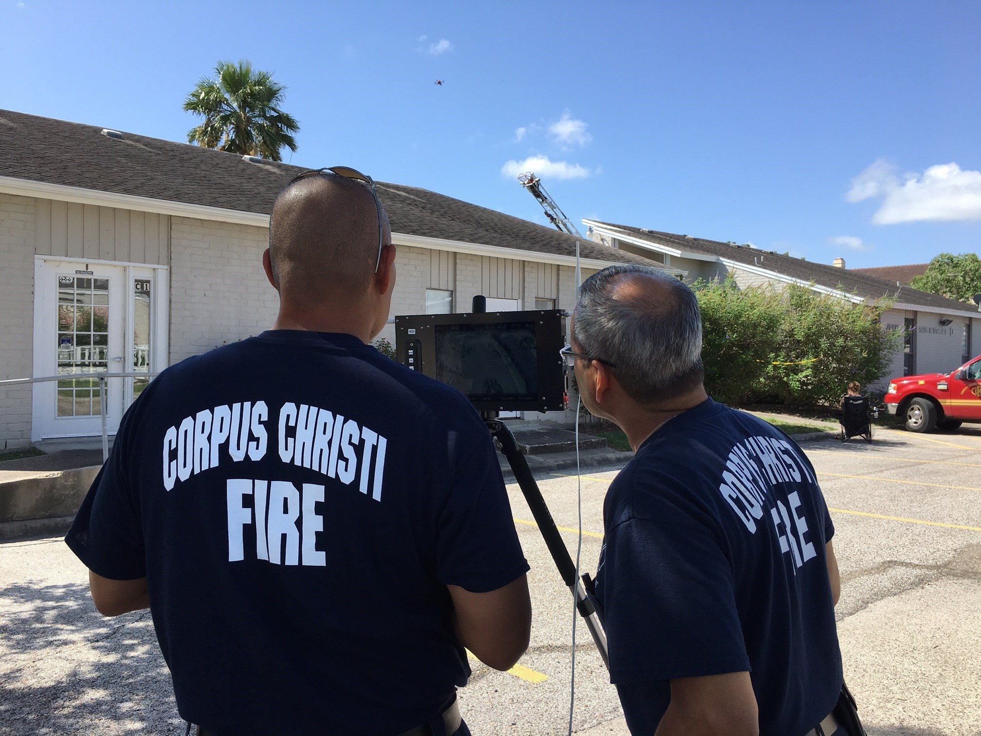 CCFD uses a drone to get a bird's eye view of the damage.
