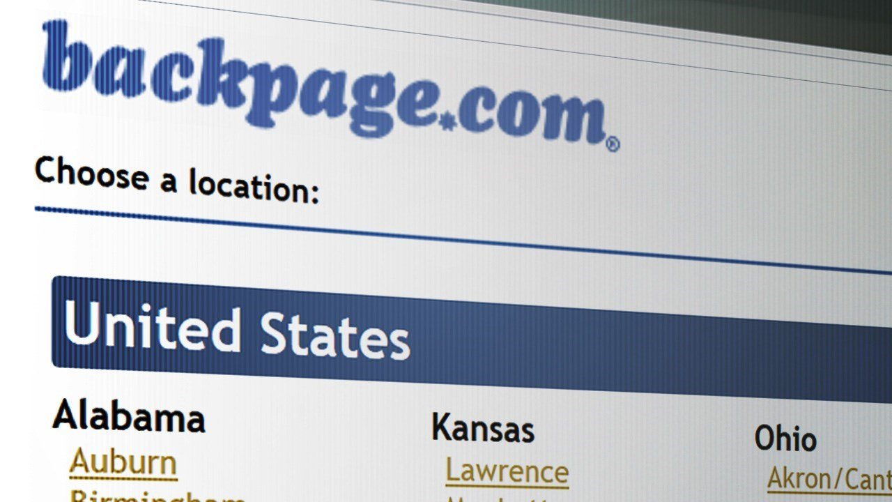 Attorney General's Office: Backpage.com pleads guilty to human trafficking in Texas