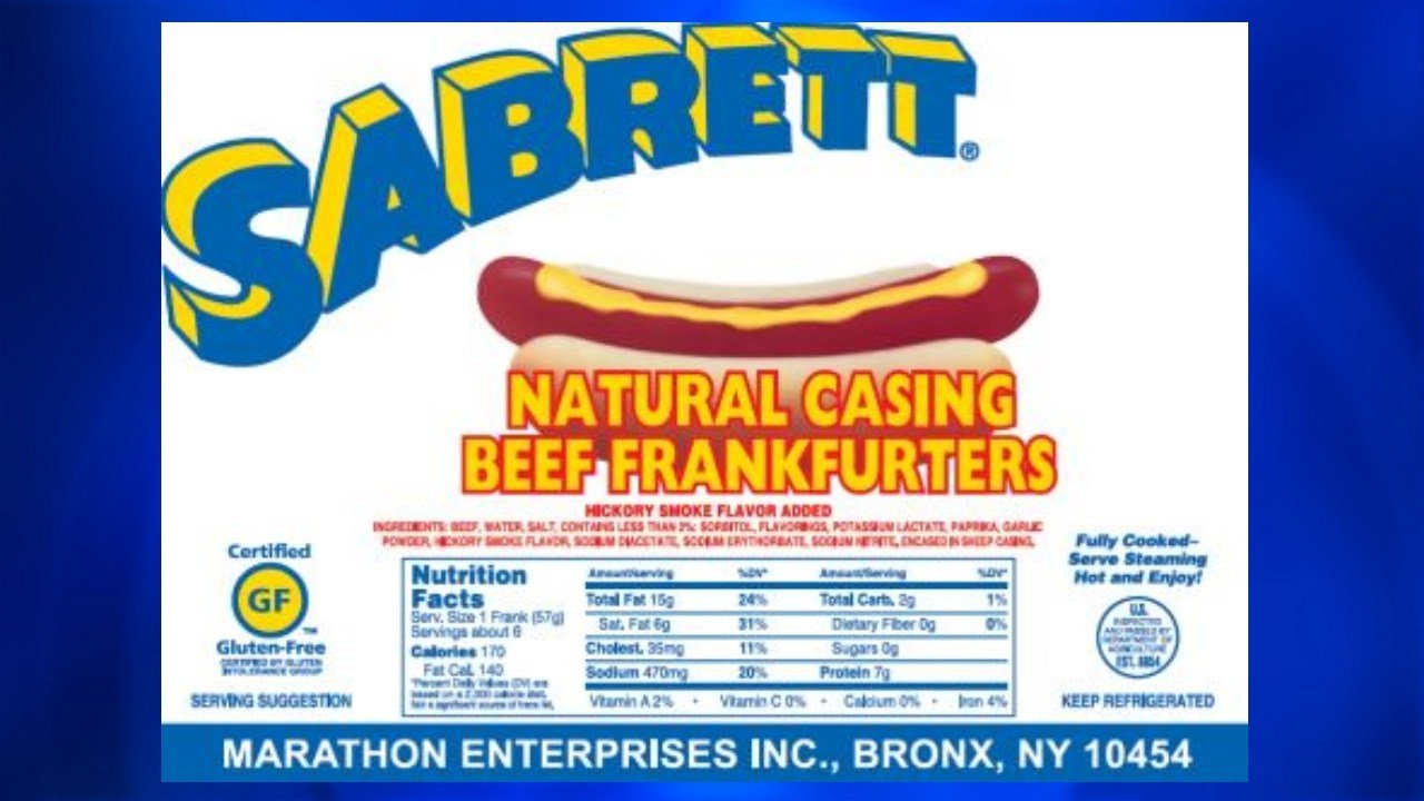 7 million pounds of hot dog products were recalled due to possible contamination with metal fragments. Photo: USDA