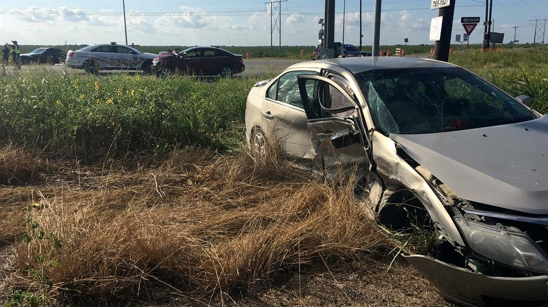 Six people were transported to the hospital following a t-bone crash Sunday afternoon.