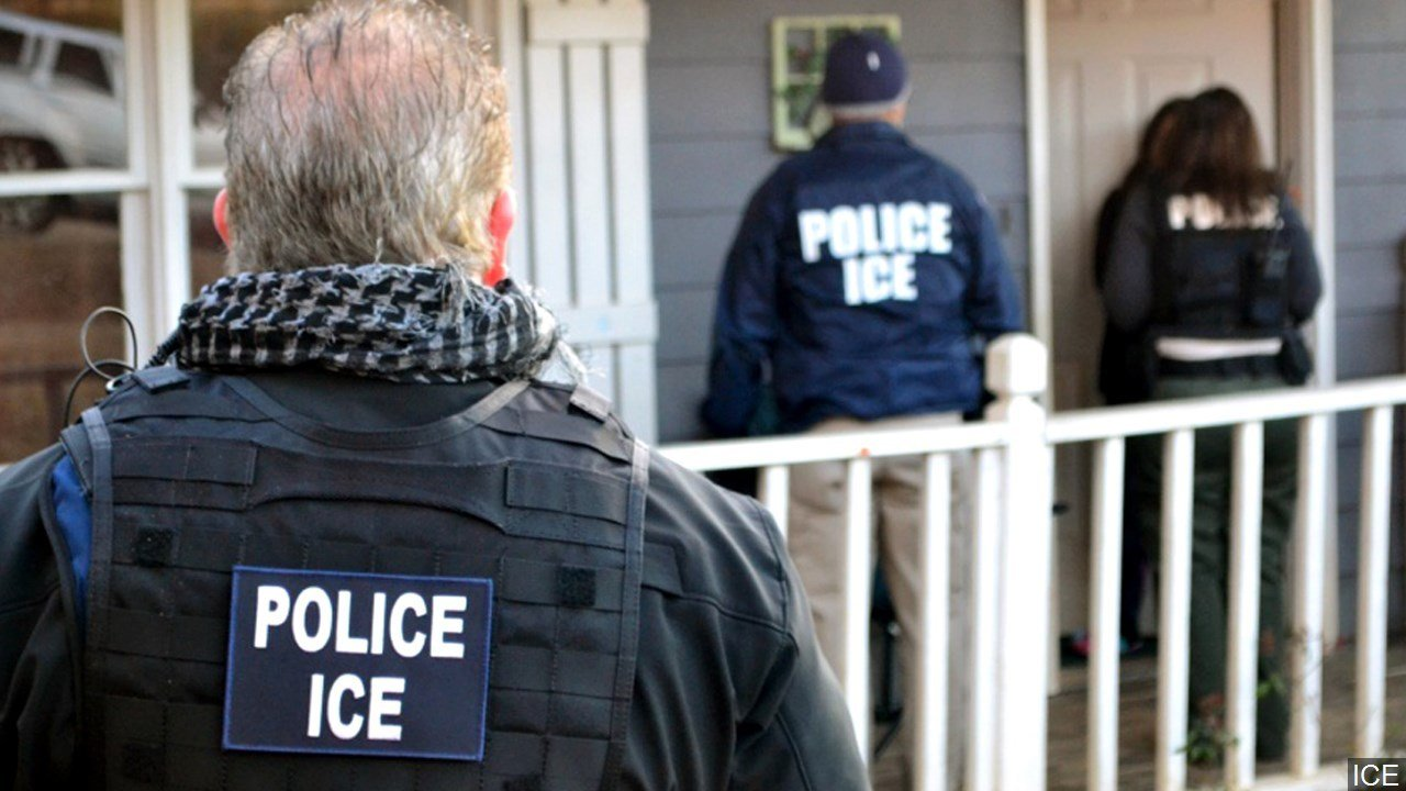 PHOTO: Immigration And Customs Enforcement (ICE) officers, Photo Date: 2/13/2017