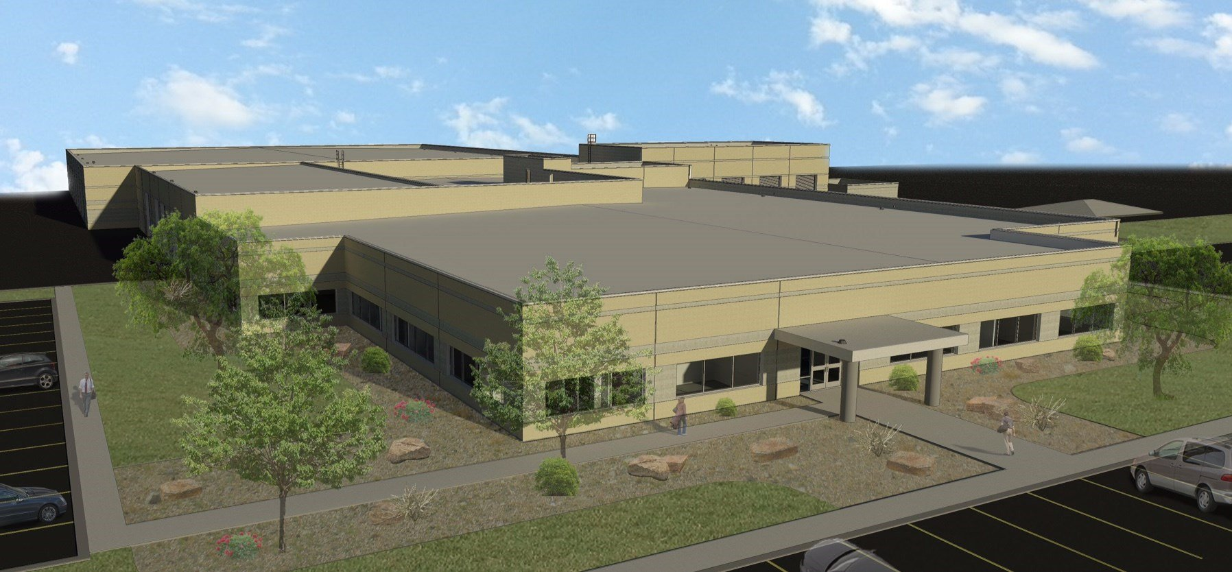 A rendering of a new AEP Texas building that is expected to be completed in September 2018. (Courtesy: AEP TEXAS)