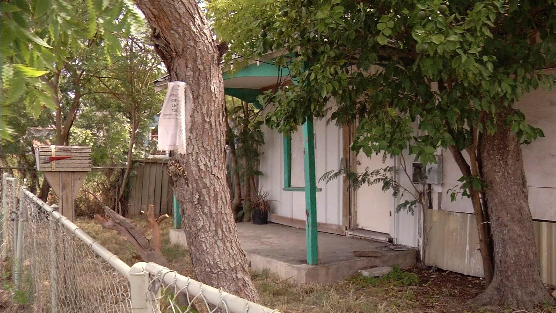 A home set to be demolished.