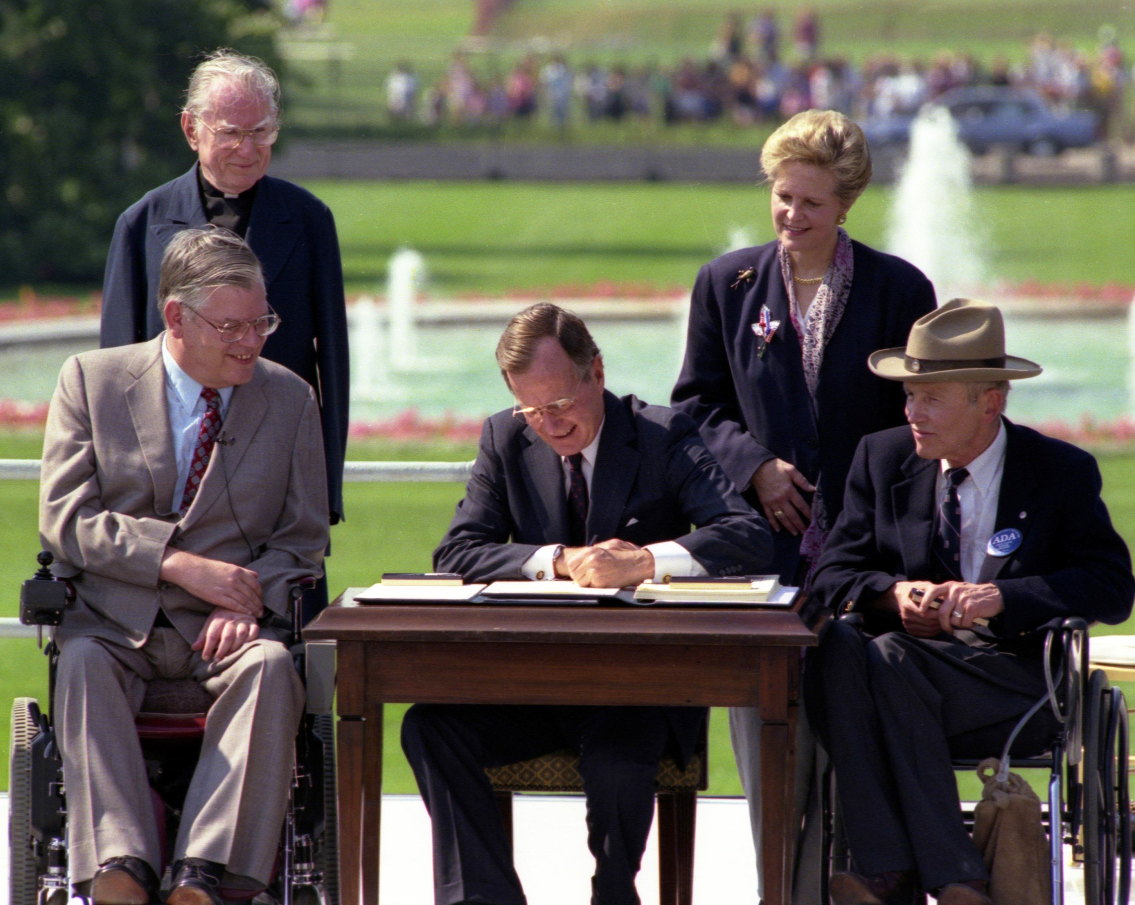 President Bush signs the ADA in 1990. Photo: ADA National Network.