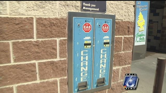 Coin vaults like these were the target of recent thefts, according to a local car wash owner.