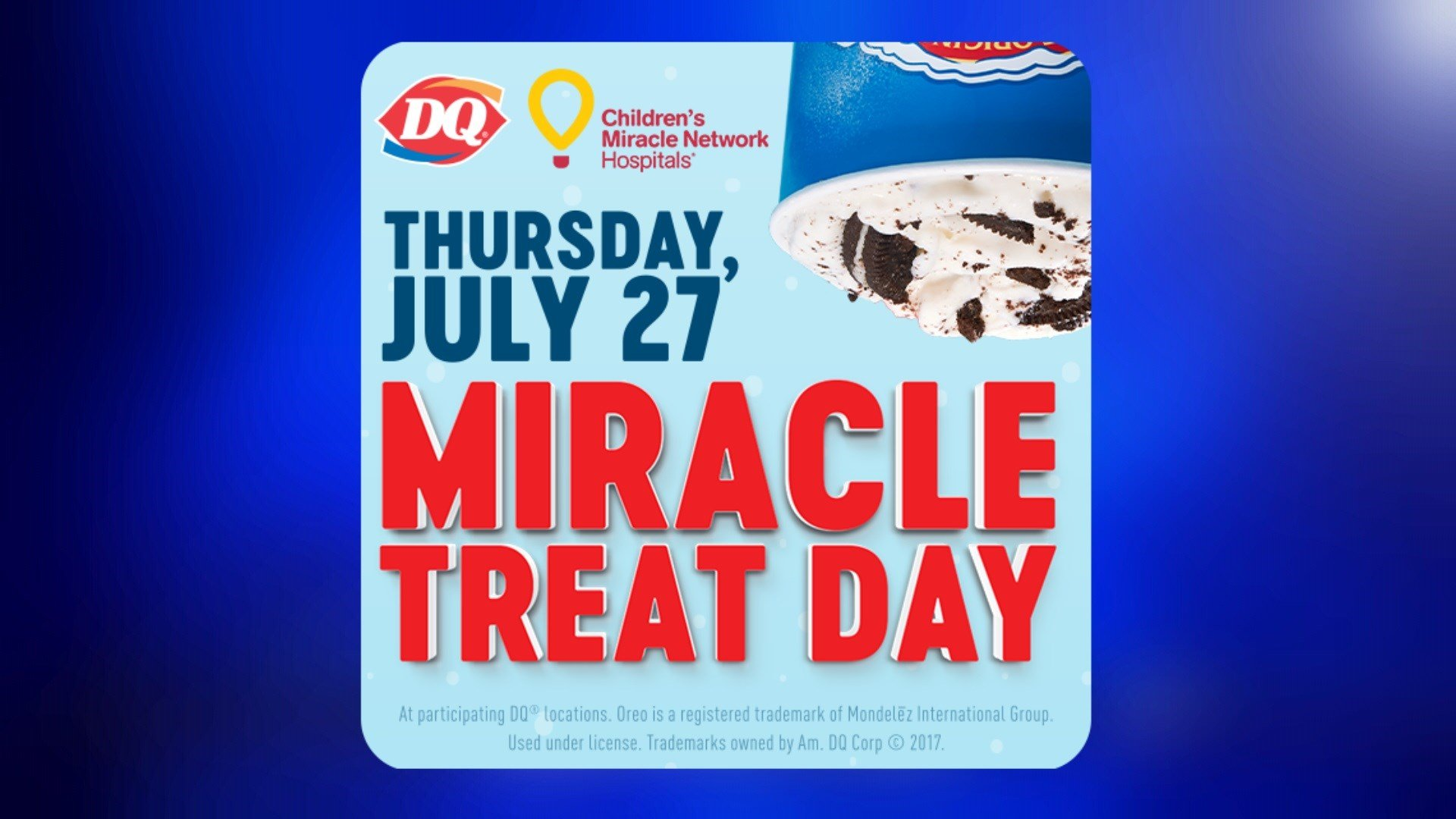 Thursday is Miracle Treat Day at Dairy Queen