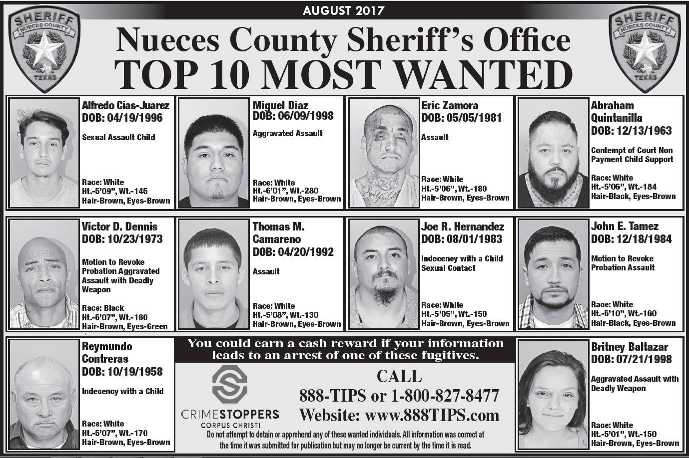 Selena's brother on Texas county's Top 10 Most Wanted